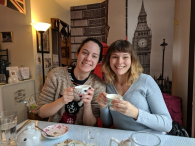 Ash and Me @ Tinas Traditional Tea Room