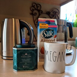 What do you drink with black tea? Almond milk!